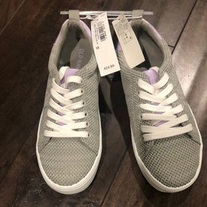 Girls size 13 Gray and lavender shoes